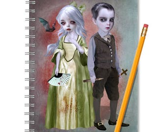 Vampire Notebook - Vampire Journal - LINED OR BLANK pages, You Choose