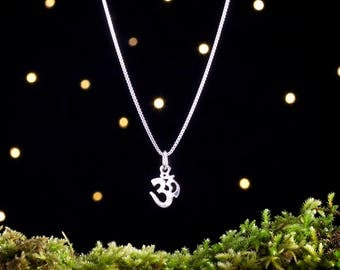 Sterling Silver Teeny Tiny Om - (Charm, Necklace, or Earrings)