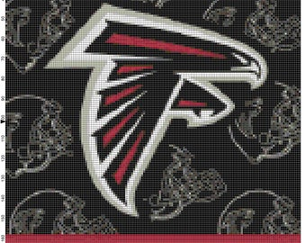 NFL Atlanta Falcons Flag Counted Cross Stitch Pattern