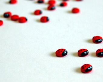 Miniature Ladybirds (Pack of 5) | Fairy Garden | Dolls house | Card Making | Scrap Booking | Embellishment