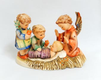 vintage Goebel Hummel figurine, Silent Night, TMK3, nativity scene, collectible