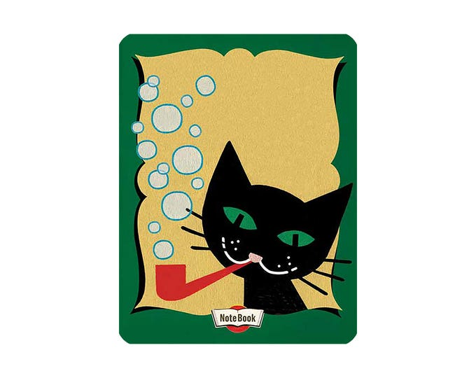 Featured listing image: Cat Blowing Bubbles - Notebook