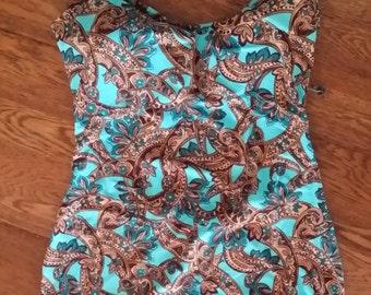 LGW Paisley One Piece Swim Wear (Size 14-16)