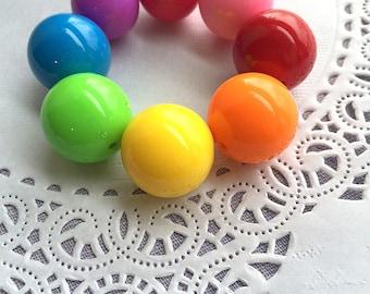 SAMPLE SALE, Chunky Rainbow bracelet, rainbow chunky bracelet, rainbow jewelry, chunky jewelry, kids bracelet, kids jewelry.