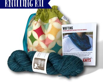 "Kite Festival - A ""Just Add Needles"" Knitting Kit - Limited Edition Project Bag, Yarn & Cowl Pattern"