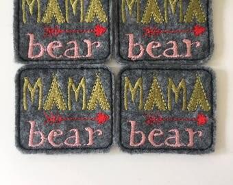 Mama Bear Felties Set of 4
