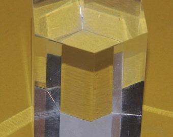 6 sided Plexiglass Mid Century Modern accent