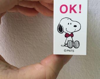 Snoopy Rubber Stamp - Ok! -  Kodomo no Kao Stamp