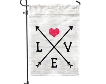 """Love Arrows Garden Flag 12.5""""x18"""""""