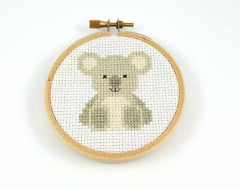 Koala Cross Stitch pattern, koala pattern, animal patterns, counted cross stitch, koala pdf pattern, modern cross stitch