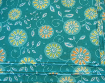 Aqua Placemats Reversible Turquoise Placemats Set Of 4 Or 6 White And Aqua  Placemats Turquoise Kitchen