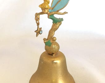 Vintage Walt Disney Productions Tinkerbell Brass Bell