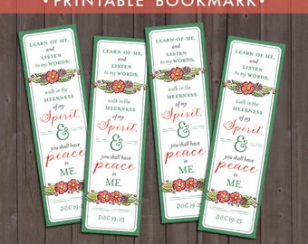 2018 LDS Mutual Theme Bookmark Printable (Instant Download) - You Shall Have Peace In Me [Christ]