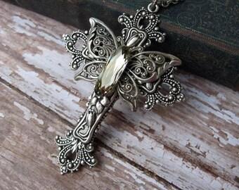 Swarovski Crystal Butterfly Cross Necklace - N125
