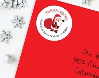 Christmas Address Labels - Santa Claus - Sheet of 24