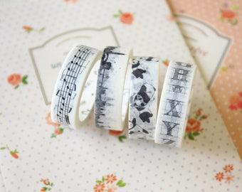 Black & White Cartoon washi masking tape