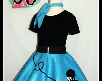 MY Gorgeous Patty Poodle Skirt Custom Made In Your Choice Of Size Toddler