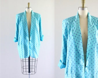 oversized silk summer jacket