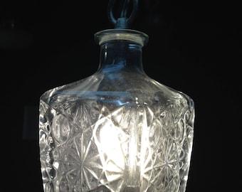 Glass Decanter Hanging Light