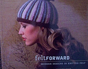 Feltforward knitted felt book-used felt knit book