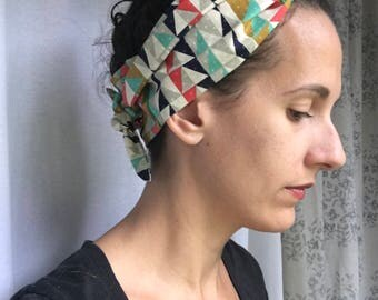 Womens headwrap - boho headband - hair scarf - retro head scarf - pin up headband - workout headband