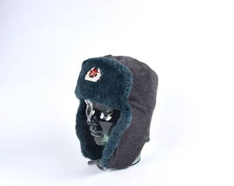Communist Cold War Era USSR Ushanka, Russian Winter Bomber Hat