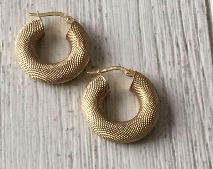 14K Gold Earrings Gorgeous Hoops