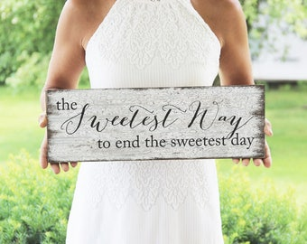 The Sweetest Way To End The Sweetest Day Sign, Candy Bar Sign, Wedding Treat Bar Sign, Vintage Style Wedding Sign
