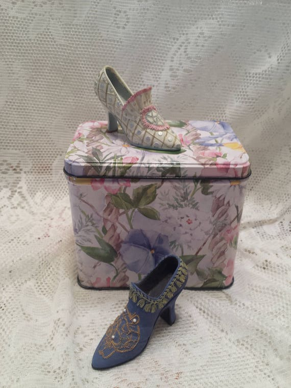 Floral Tin Container by Nelson Graphomania - Multi-Color and Multi-Floral - Hinged Lid Tin - Decor or Storage Container - Giftable Tin