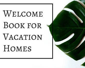 Vacation Rental Welcome Book Template Example -- Instant Digital Download Word Files - Airbnb Host Templates
