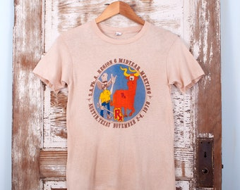 1970's Texas T-shirt Funny Western Austin Longhorns Small Xsmall