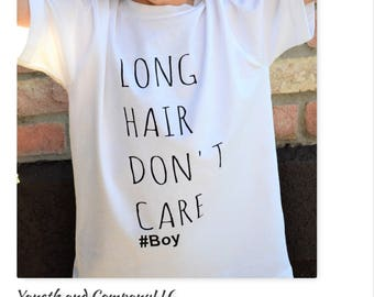 Long Hair Don't Care #Boy shirt, Long Hair Don't Care shirt# boy, #boy Long Hair Don't Care tshirt, kids cool t-shirt, Fun Boy Shirts