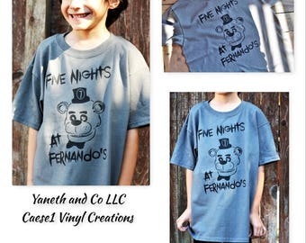 Five Nights at Freddy's Tshirt,Five Nights at Freddy's Birthday t-shirt,Five Nights at Freddy's Personalized Birthday Boy or Girl T-shirt