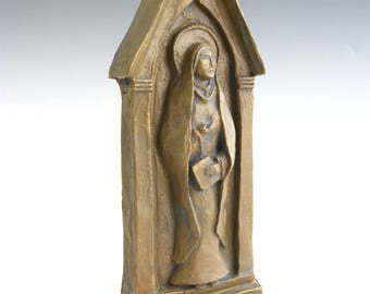 Patron of Grandmothers: St. Anne, Handmade Statue (Small Size)