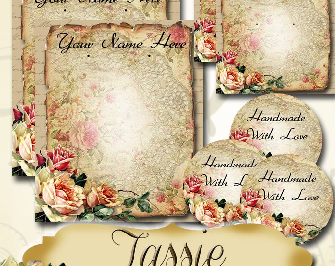 TASSIE•Custom Jewelry Cards•Labels•Earring Display•Clothing Tags•Custom•Boutique Card•Tags•Custom Tags