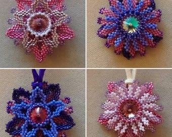 Reversible Flower Pendant