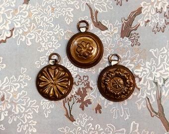 Vintage Miniature Copper Molds - Copper Mold Set - Mini Molds