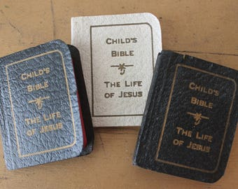 Vintage Miniature 1932 Child's Bible The Life of Jesus Vintage Miniature Child's Bible Vintage Miniature Child's Bible and Prayer Book