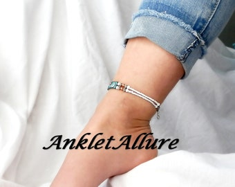 Heart Anklet Ankle Bracelet LOVE YOU to the MOON Anklets For Women