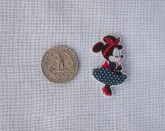 Acrylic Minnie Mouse Inspired Flat Back Bow Center Magnet Badge Reel Assessories