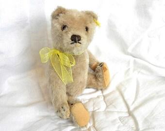 """Steiff Vintage Bear - 8"""" Mohair Teddy Bear - Antique Bears - Steiff Small Bear"""