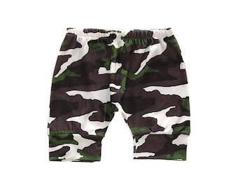 Boy Harem Shorts, Drop Crotch Summer Shorts, Army Baby Pants, Toddler Pants, Camo Shorts