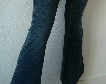 Mid Crop Flare Jeans DKNY/Vintage/Late 70s/Early 80s/Size 12