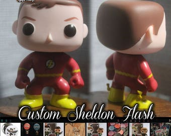 READY TO SHIP - Sheldon Cooper The Flash - Custom Funko pop toy