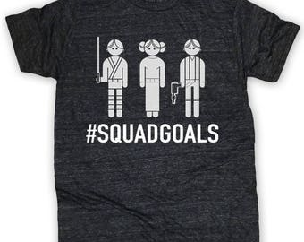 Star Wars Squadgoals Tee Design, Star Wars #Squadgoals SVG, Luke & Leia SVG, Star Wars Vector,  Digital Download