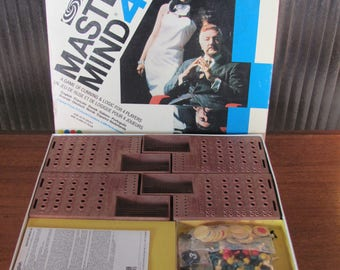 "Vintage 70's ""Mastermind 44"" Boardgame - Parker Bros 1973/77 - 4 players - 70's Board Game - Master Mind - Hidden Code - Multi Language"