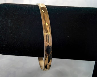 Vintage Napier Bracelet, Gold Bangle Bracelet, Gold Bracelet, Napier