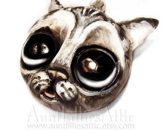 Grey Tabby Cat Ornament Custom Pet Ornament - Pet Portrait - MADE TO ORDER -