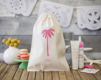 Destination Wedding Welcome Bags - Palm Tree Welcome bags - Tropical Wedding Favors - Beach Wedding Welcome Bags - Destination Wedding
