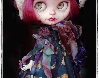 JEZEBEL Vampire Blythe custom doll by Antique Shop Dolls
